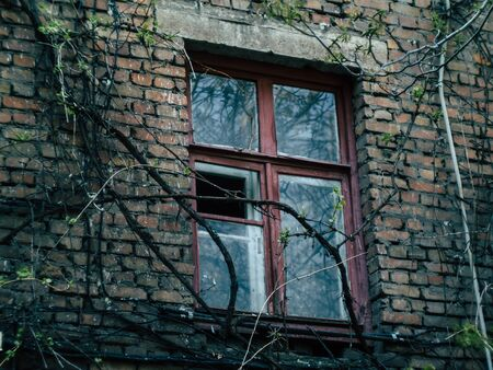Russian courtyard conveying the atmosphere and romance of the country Stock Photo