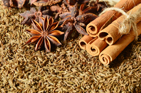 caraway seeds or Kammel (German name) with Cinnamon Helps to expel the stomach and intestines.