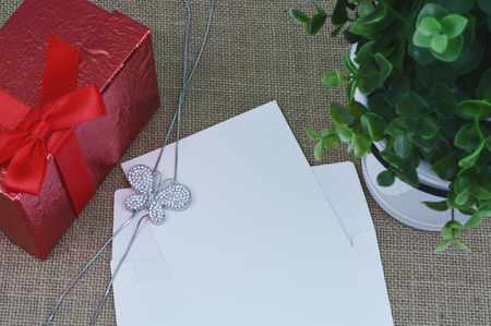 diamond necklace: diamond butterfly necklace with empty greeting card