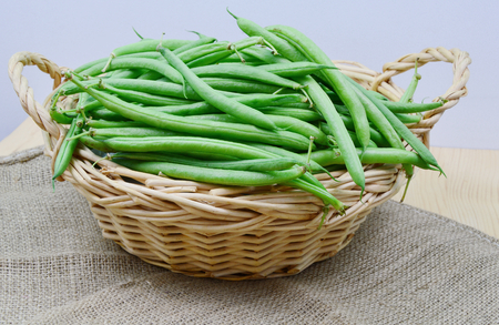 healthy with bush beans Stock Photo