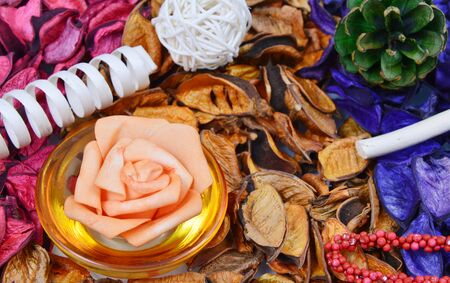 potpourri: colorful, various scents of potpourri and decor items
