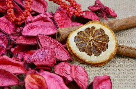dried orange: dried orange and red potpourri