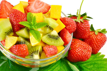mixed wallpaper: Variety of fresh fruit in the summer. Fruit mixed for health.