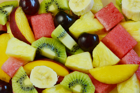 usefulness: Full frame colorful variety of fruits.