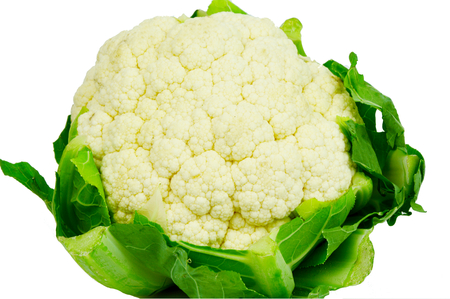 cauliflower on white background. Stock Photo