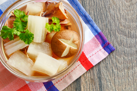 easier: Soup with radish and dried squid is Thailand traditional food