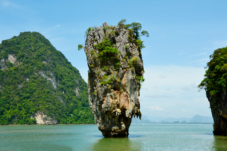 James Bond Iceland or Thai name is Ko Tapu in Phang Nga Bay Thailand.