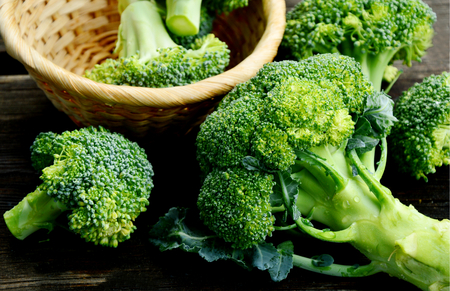 Powerful antioxidant of broccoli stands out as the most concentrated source of vitamin C Stock Photo