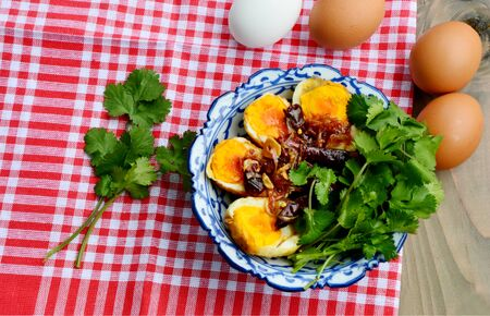Fried Boiled Egg with Tamarind Sauce or Son-in-Law Eggs