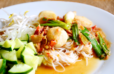 This menu is Thai sauce for Thai rice noodle