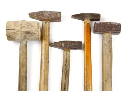 Many kind of hammers on white background Banco de Imagens - 91495320