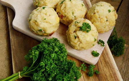 Homemade Fresh Bread dumpling. (English name is Semmelknödel) Stock Photo