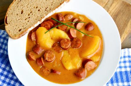 Potato Goulash with Sausage (German name is potato sausage goulash)