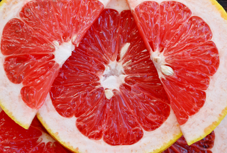 Grapefruit with full frame and closeup