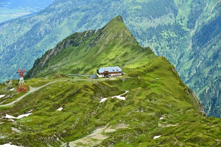 Kitzsteinhorn summit world 3000 Austria top view in summer.