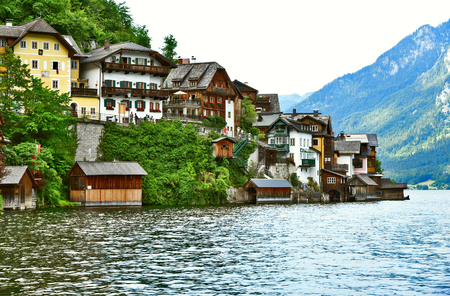 Hallstatt Austria for wallpaper Stok Fotoğraf