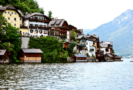 building or architecture in Hallstatt Salzkammergut  Austria.