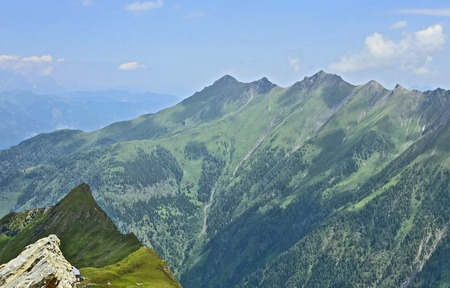 Kitzsteinhorn summit world 3000 Austria top view in summer.Travel in Salzburg Austria