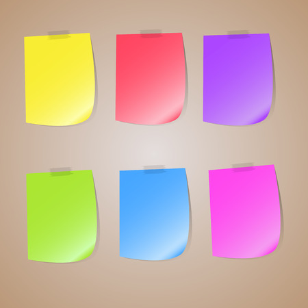 posit: Illustration of a colored set of sticky notes, colored set of sticky notes