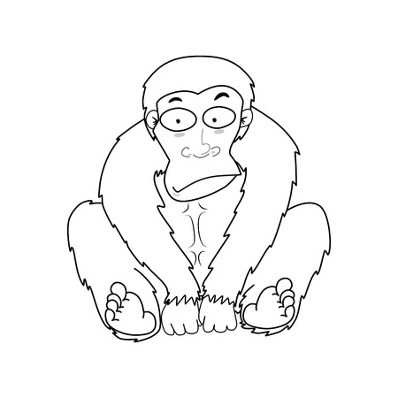 jumping monkeys: Illustration of Monkeys vector, Cute cartoon monkey, Cartoon Character Monkey Isolated on White Background.
