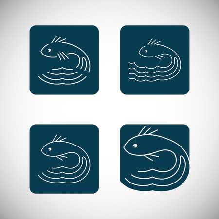 Fish abstract vector design  template Vector