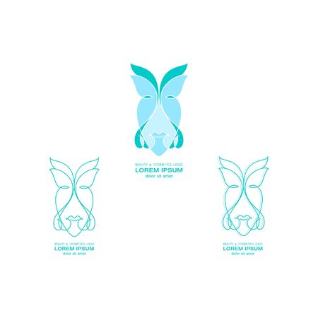 vector beauty and cosmetic logo , beauty symbols, symbols for beauty and nature, Organic Cosmetics Design elements