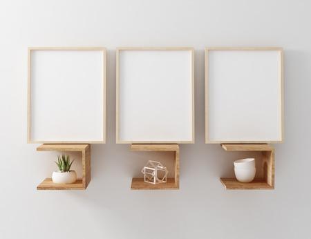3 blank wooden frame