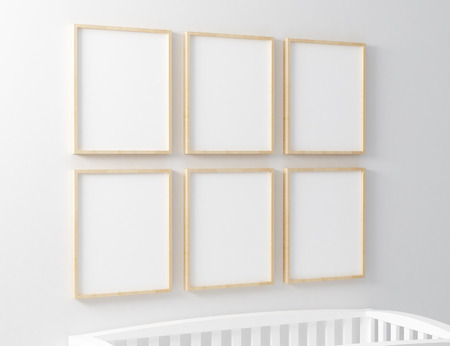 six Blank frame with baby cots