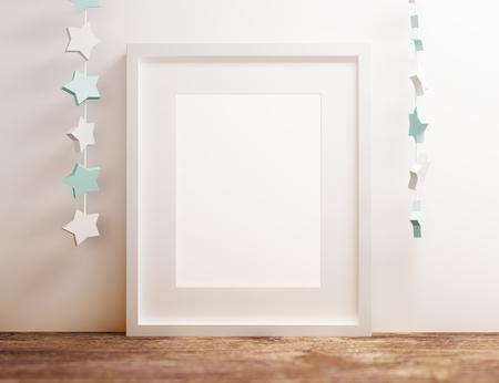 poster frame mockup nursery