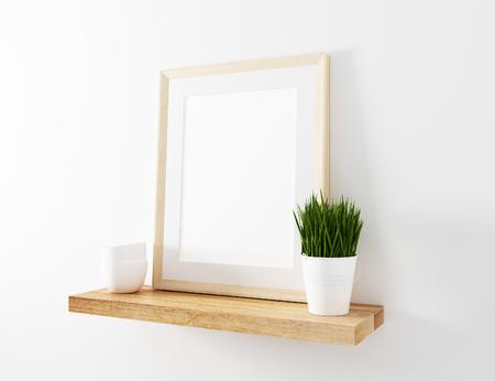 frame mockup floating shelve