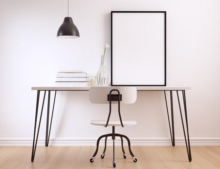 poster frame mock up 免版税图像