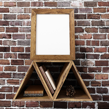 poster frame mock up Stock Photo