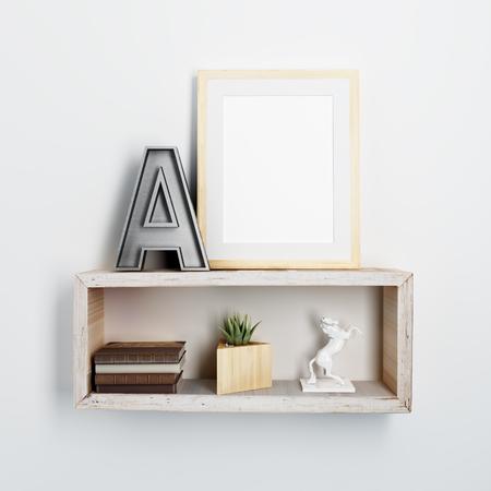 poster frame mock up Banco de Imagens - 78265256