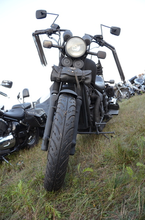 front of: Motorcycle - front