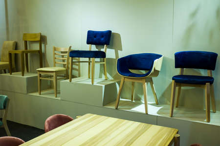 demo chairs on display in the store