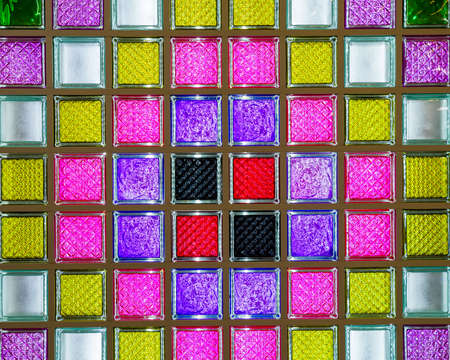 glass colored square blocks for interior and walls