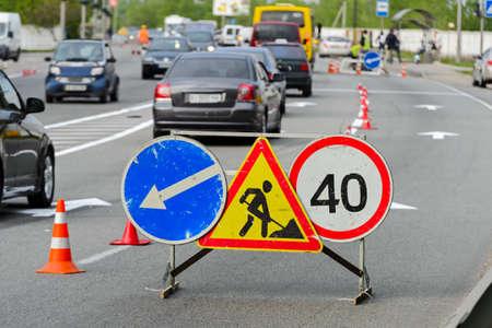 Road repair works
