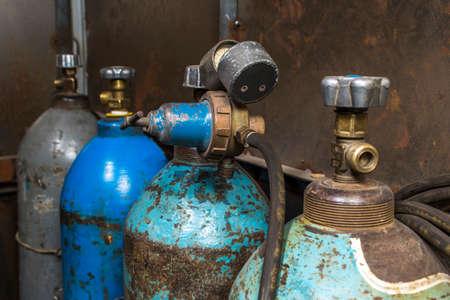 gas cylinders for welding Standard-Bild