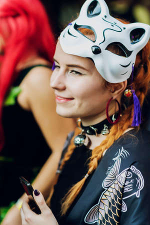 festival of modern pop culture COMIC CON, September 22, 2018 Kiev, Ukraine, Art Plant Platform. girl in cosplay costume Sajtókép