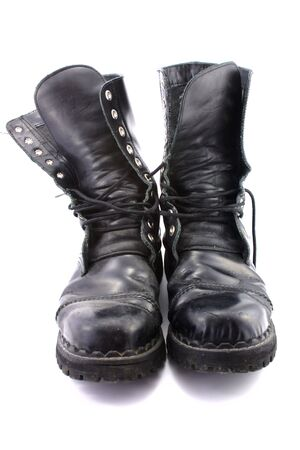tred: Pair of old army shoes