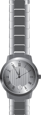 roman numerals: Watch with arrows and Roman numerals