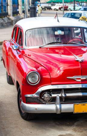 Caribbean American classic cars in Cuba photo