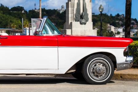 Caribbean Cuba Havana classic cars parked photo