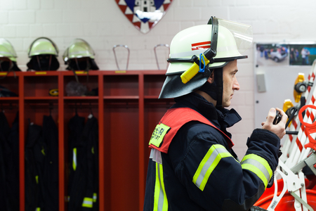 fireproof: Firefighter in a fire department
