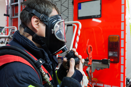 reachability: Firefighter with respirator