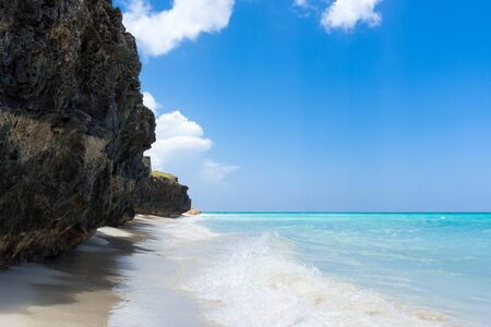 varadero: Dream beach with costline view in Varadero Cuba Stock Photo