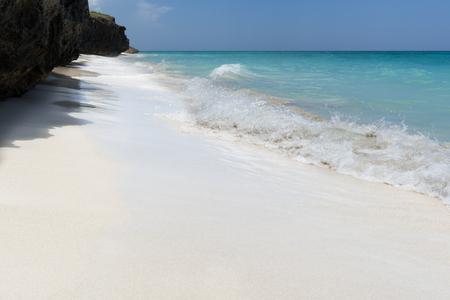 dreamlike: Dreamlike beach with costline view in Varadero Cuba Stock Photo