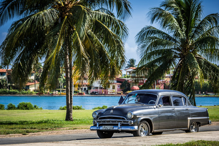 HDR american car in Varadero Cuba Editorial