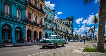 Havana, Cuba - September 14, 2016: Street scenery on the main street in Havana Cuba - Serie Cuba 2016 Reportage