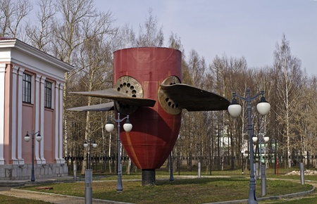 Old Hydroelectric turbine (operated from 1940 to 2010 in hydropower in Uglich, Russia). Now a museum piece